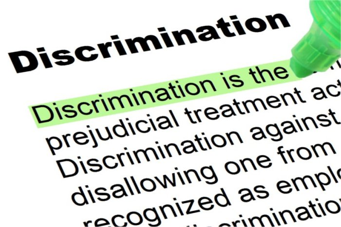 Image showing Discrimination as in a dictionary