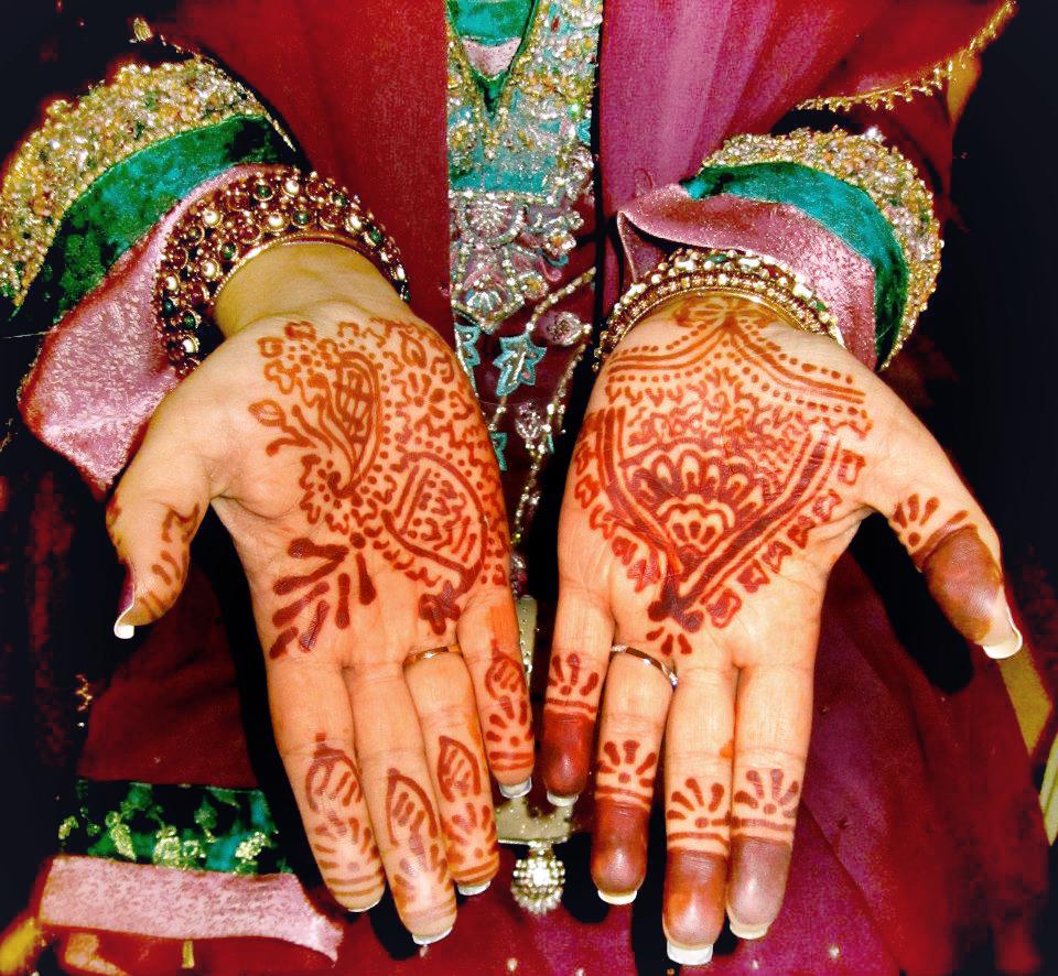 Henna print on hand